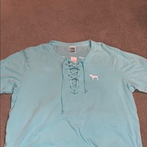 Brand new PINK shirt with tags size large